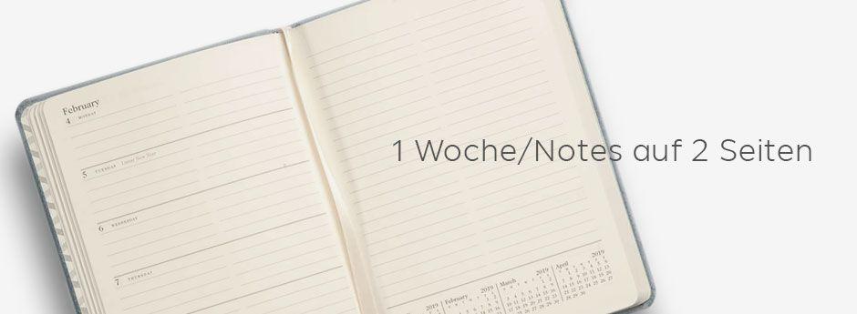 Wochenkalender mit Notizseite