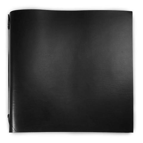 Fotoalbum Leder 45x45 cm schwarz, 50 Blatt