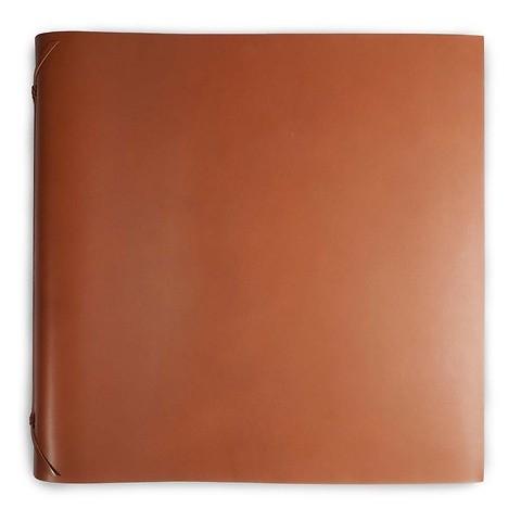 Fotoalbum Leder 45x45 cm tan,50 Blatt