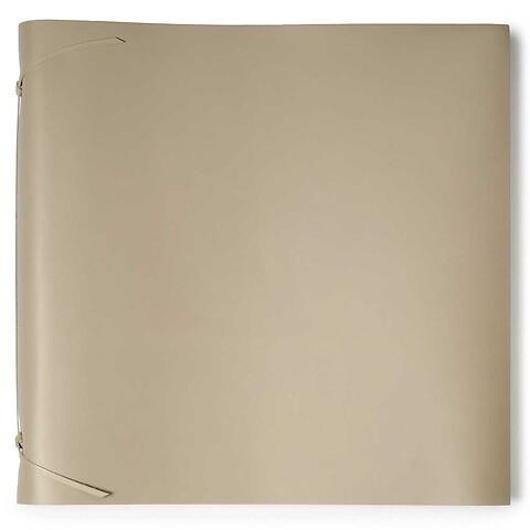 Fotoalbum Leder 45x45 cm taupe, 50 Blatt