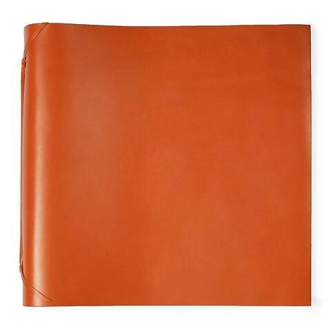 Fotoalbum Leder 35x35 cm orange, 50 Blatt