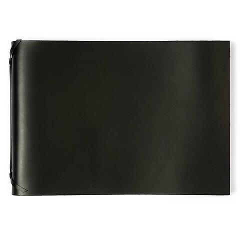 Fotoalbum Leder 35x24,5 cm schwarz, 30 Blatt