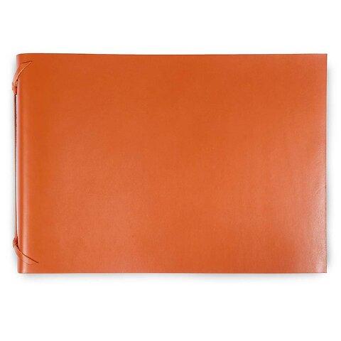 Fotoalbum Leder 35x24,5 cm orange, 30 Blatt