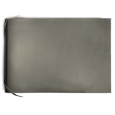 Fotoalbum Leder 35x24,5 cm dunkelgrau, 30 Blatt