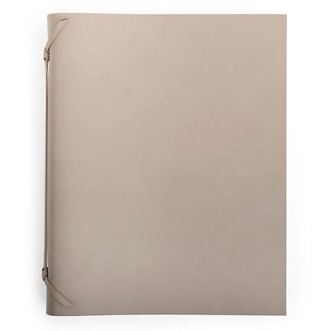 Fotoalbum Leder 30x23 cm taupe, 30 Blatt