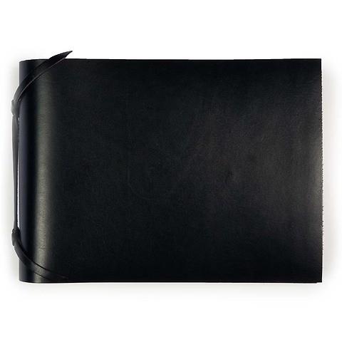 Fotoalbum Leder 20,5x15 cm schwarz, 30 Blatt
