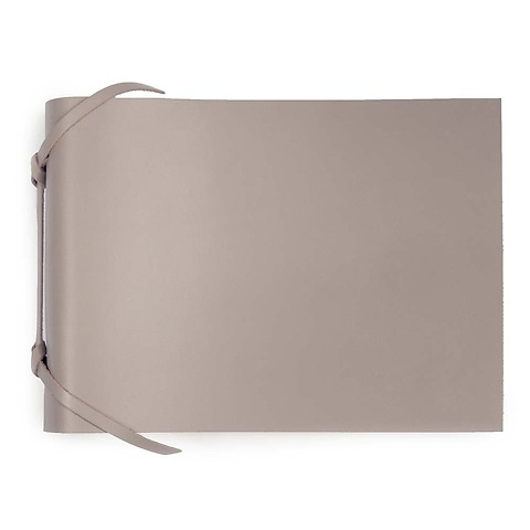 Fotoalbum Leder 20,5x15 cm taupe, 30 Blatt