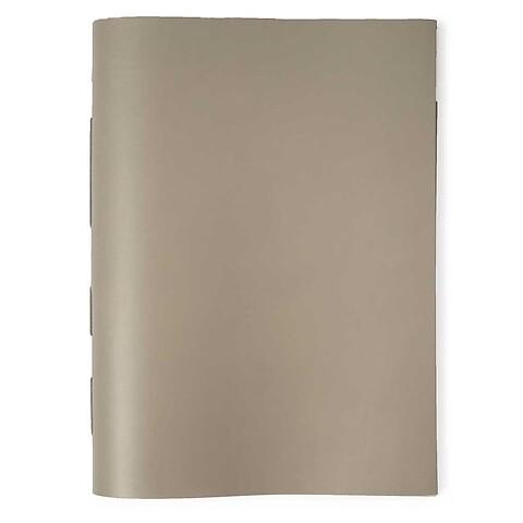 Gästebuch Leder 28x38 cm taupe, 48 Blatt Bütten