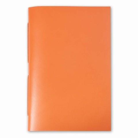 Gästebuch Leder 24x17 cm orange, 22 Blatt