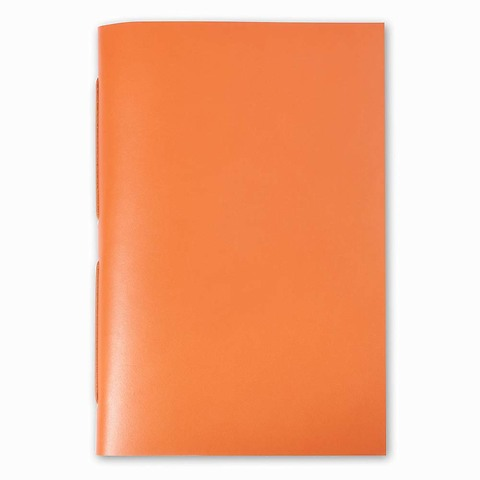 Gästebuch Leder Bütten 17x24 cm orange, 22 Blatt
