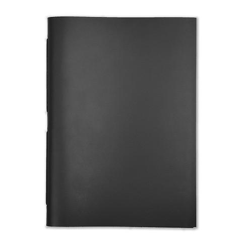 Gästebuch Leder A4 31x22 cm schwarz, 48 Blatt