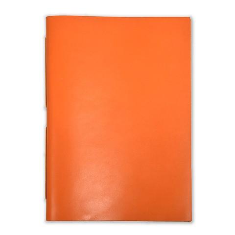 Gästebuch Leder Bütten A4 orange, 48 Blatt