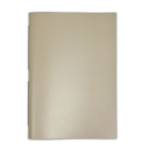 Gästebuch Leder A4 31x22 cm taupe, 48 Blatt