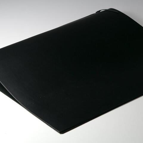 Sottomano Leder groß 45x37 cm  schwarz