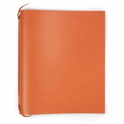 Ringbuch A4 Leder orange