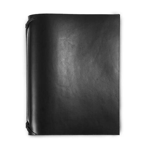 Ringbuch Leder A5 schwarz; 4er Ringschiene