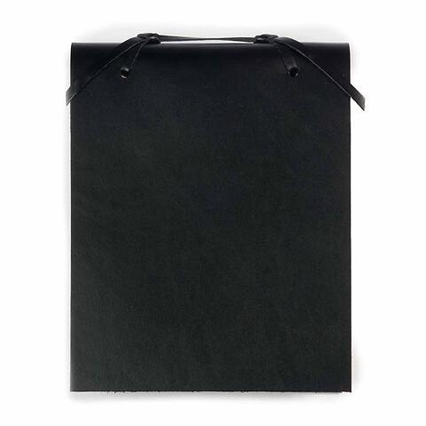 Blocco Skizzenblock Leder groß schwarz
