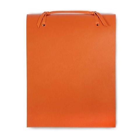 Blocco Skizzenblock Leder groß 16x20 cm 200 Blatt orange