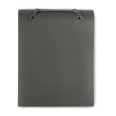 Blocco Skizzenblock Leder groß 16x20 cm 200 Blatt dunkelgrau