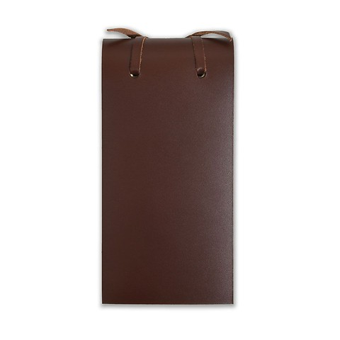 Blocco Skizzenblock Leder klein 8x16cm 200 Blatt,dunkelbraun