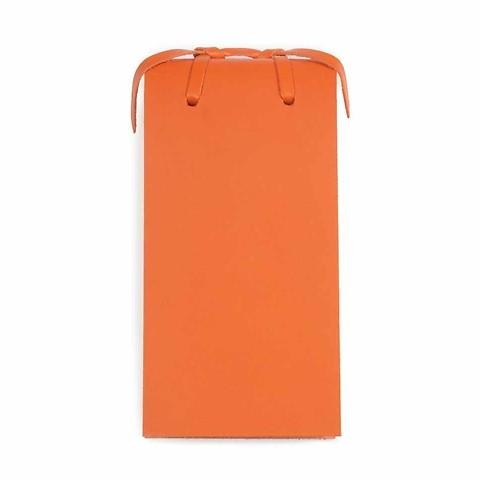 Blocco Skizzenblock Leder klein orange