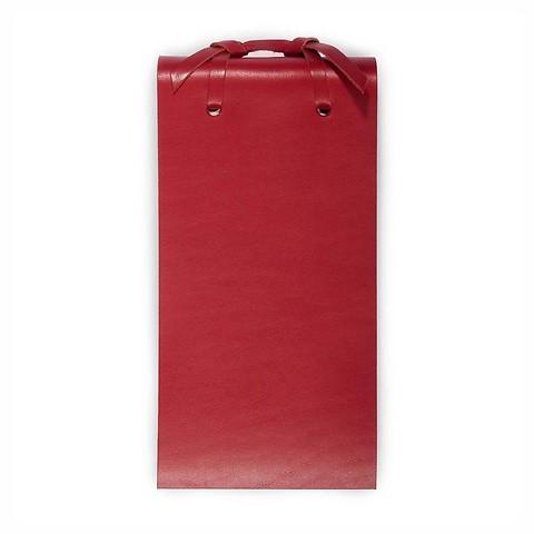 Blocco Skizzenblock Leder klein 8x16 cm 200 Blatt rot