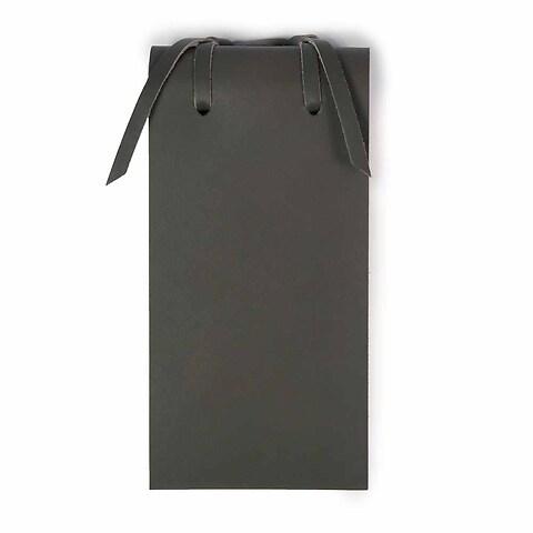 Blocco Skizzenblock Leder klein 8x16 cm 200 Blatt dunkelgrau