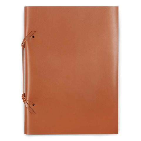 Skizzenbuch Quadernone Leder 21x30 cm tan