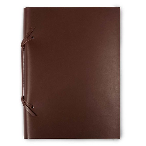 Skizzenbuch Quadernone Leder 21x30 cm dunkelbraun