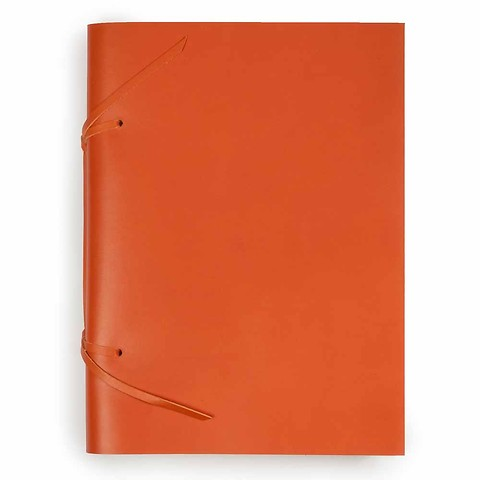 Skizzenbuch Quadernone Leder 21x30 cm orange