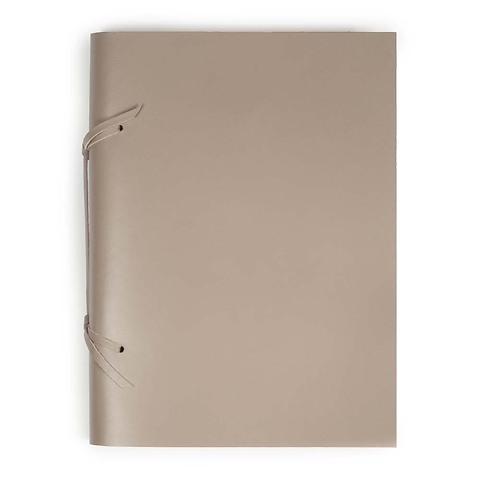 Skizzenbuch Quadernone Leder 21x30 cm taupe