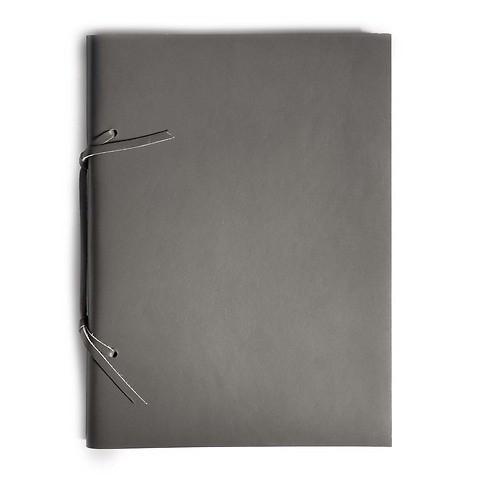 Skizzenbuch Quadernone Leder 21x30 cm dunkelgrau