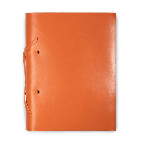 Skizzenbuch Quadernone Leder 15x20 cm orange