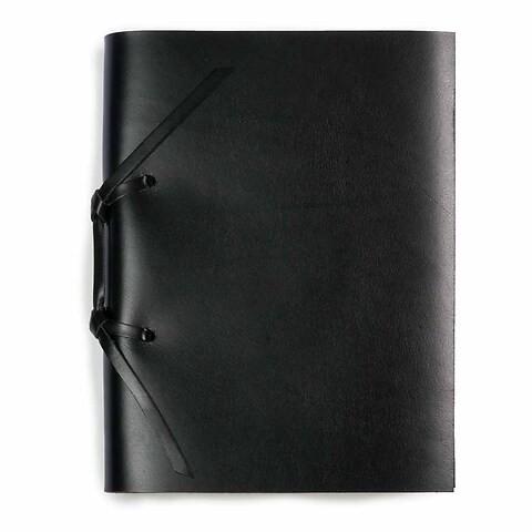 Skizzenbuch Quadernone Leder 15x20 cm schwarz