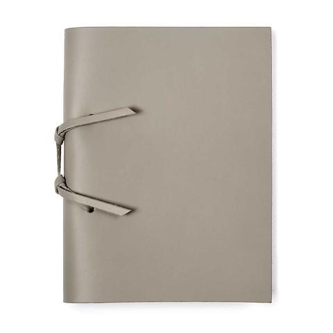 Skizzenbuch Quadernone Leder 15x20 cm taupe