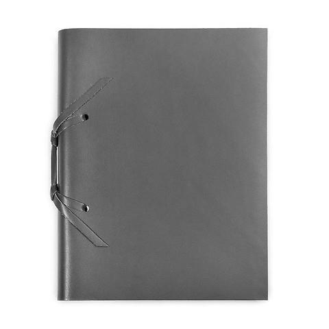 Skizzenbuch Quadernone Leder 15x20 cm 200 Blatt dunkelgrau