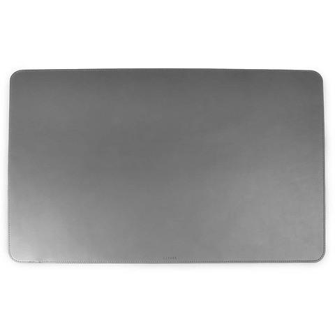 Schreibtischauflage Leder 61x39 cm dunkelgrau