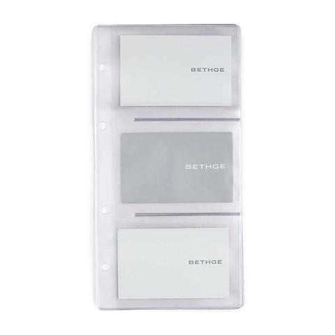 5 Visitenkartenhüllen 21.5 x 11.2 cm