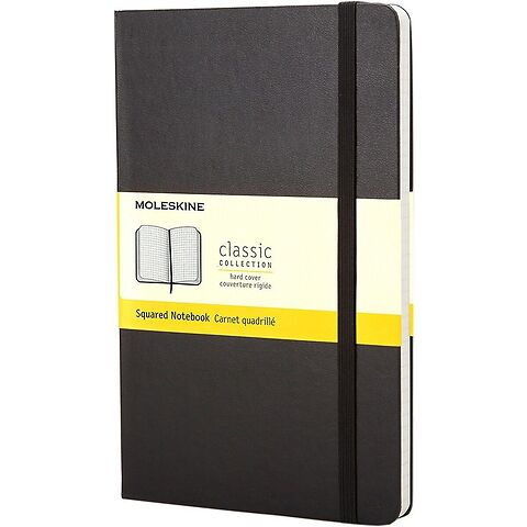 Moleskine Notizbuch Klassik A6 schwarz kariert