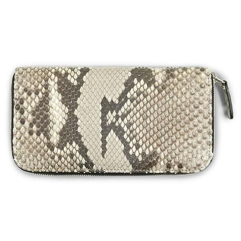 Purse Leder Python 19x10 cm schwarz-weiß