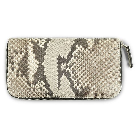 Purse Python 19x10 Zip, schwarz-weiß
