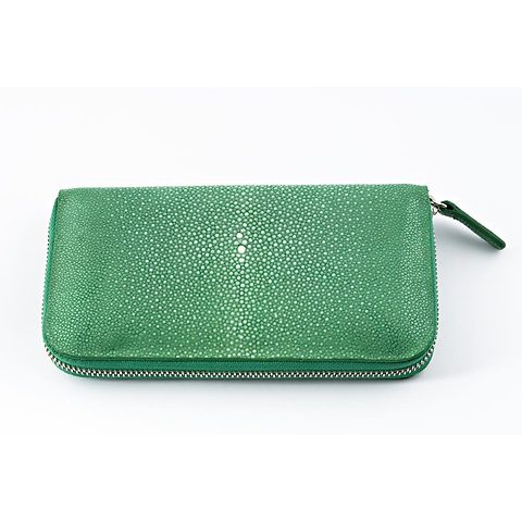 Purse Rochen 19x10 cm grün