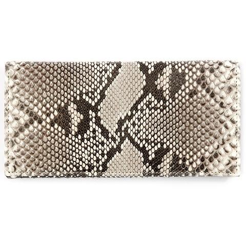 Purse Double Leder Python schwarz-weiß