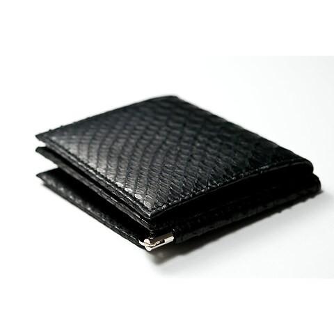Purse Doppio Python 9x10, 3 CC, Geldclip schwarz