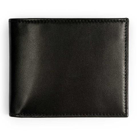 Purse quer Leder Nappa 11,5x9,5 cm schwarz