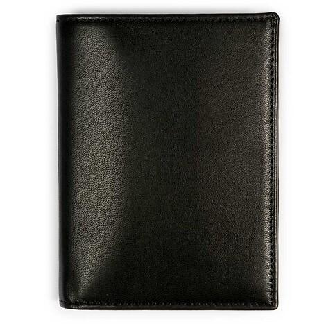 Brieftasche hoch Leder Nappa 12,5x10 cm schwarz