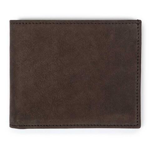 Scheintasche quer Leder Wash braun für 8 Karten 11,5x9,5 cm