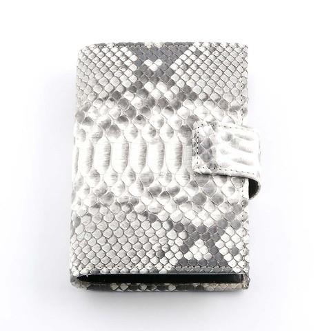 PO Pocket Planer Leder Python schwarz-weiß