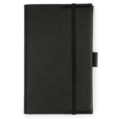 Undercover Leder Saffian schwarz für A5 Moleskine Bücher