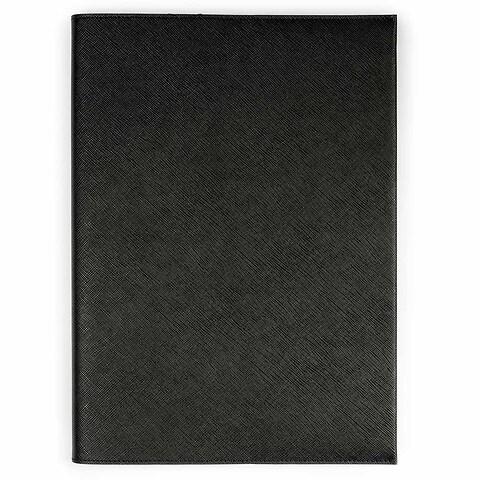 Buchhülle Leder Saffian schwarz für DIN A4 Bücher